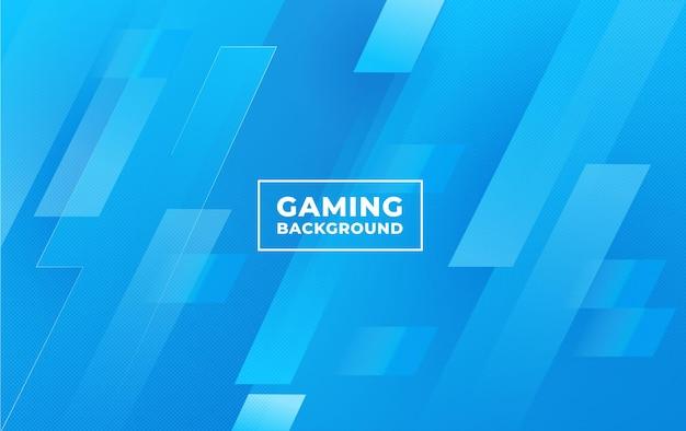 Gaming-achtergrond met een abstract en minimalistisch blauw concept vectorsjabloon