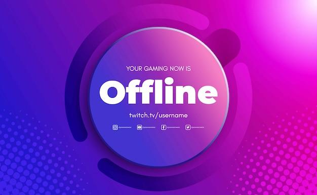 Gaming achtergrond voor offline twitch stream, abstracte futuristische achtergrond met glans licht. illustratie