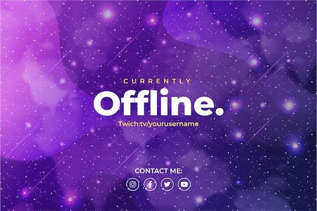 Gaming-achtergrond voor twitch met galaxy-achtergrond