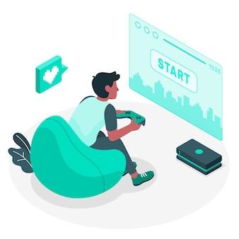 Gaming concept illustratie