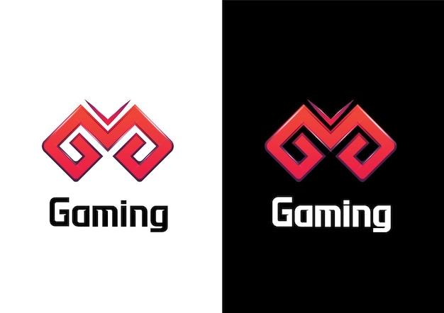 Gaming moderne g brief joystick concept logo