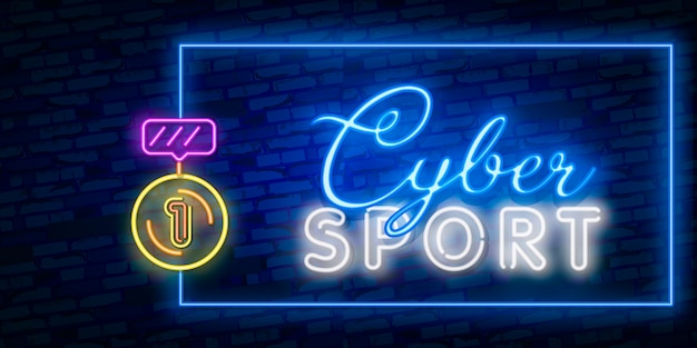 Gaming neon teken, ontwerpsjabloon, moderne trend ontwerp, nacht bord, nacht heldere reclame, lichte banner, licht kunst.