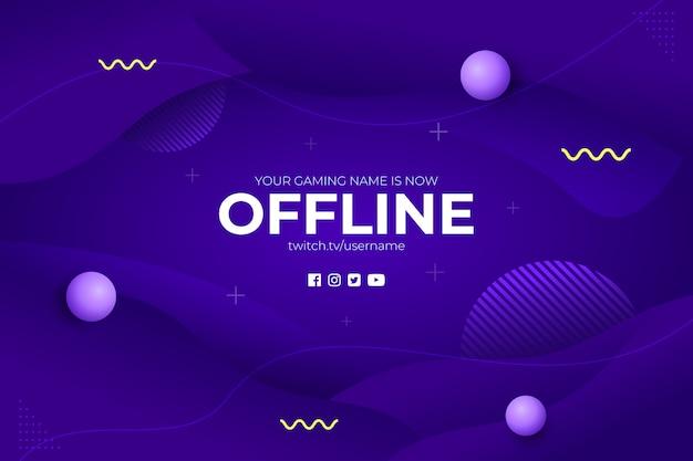 Gaming offline stream abstracte achtergrond