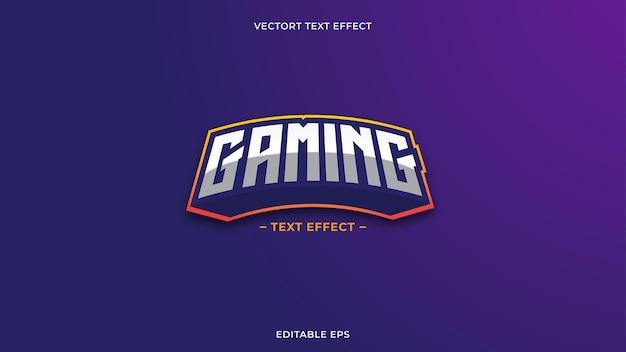 Gaming tekst effect neon