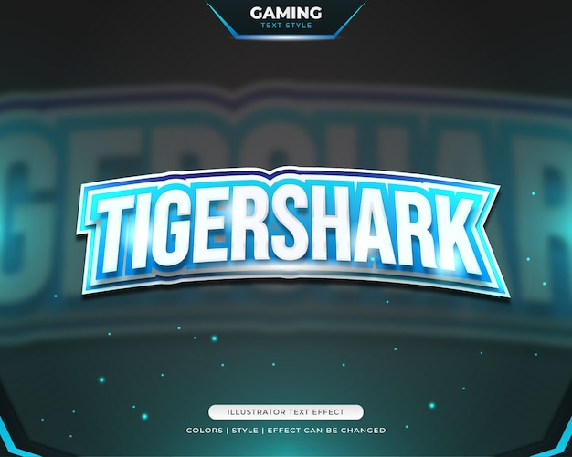 Gaming text style voor e-sport team