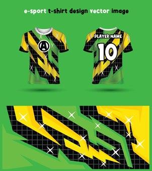 Gaming tshirt of esport jersey ontwerpsjabloon