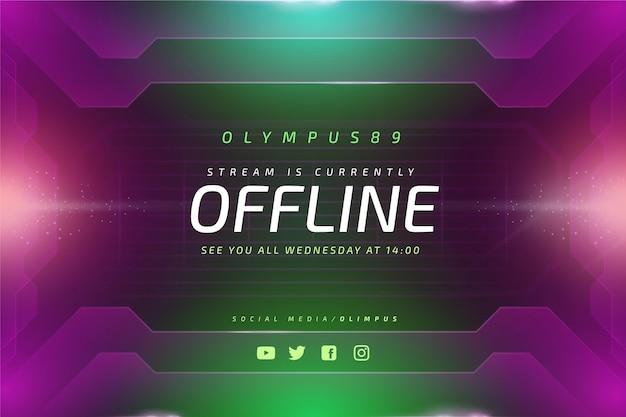 Gammer-stijl offline twitch-banner