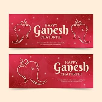 Ganesh chaturthi banners sjabloon