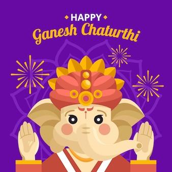Ganesh chaturthi illustratie