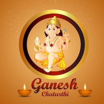 Ganesh chaturthi indiase festival viering wenskaart