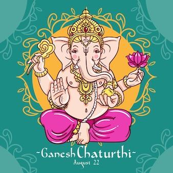 Ganesh chaturthi tekening