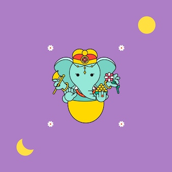 Ganesha diwali festival achtergrond