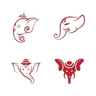 Ganesha vector pictogram ontwerp illustratie sjabloon