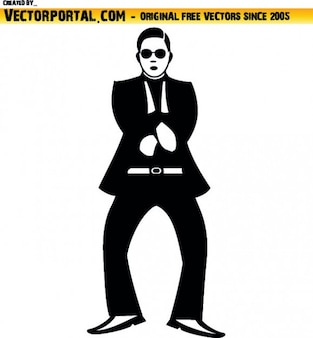 Gangnam style man
