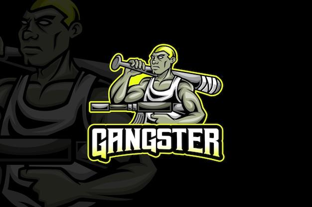 Gangster- esport logo-sjabloon