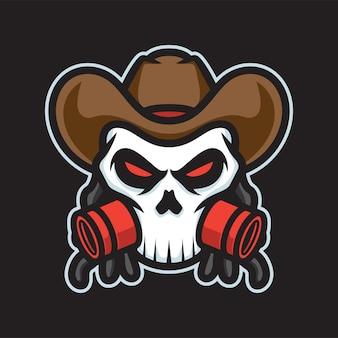 Gangster schedel mascotte logo