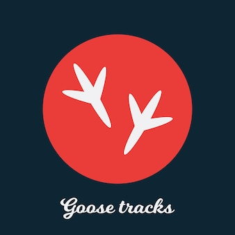 Gans volgt plat pictogramontwerp, logo symboolelement