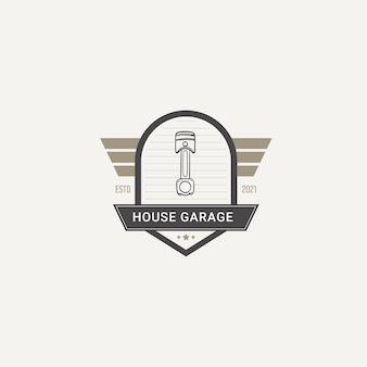 Garage auto reparatie badge logo vector
