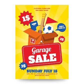 Garage poster ontwerpsjabloon