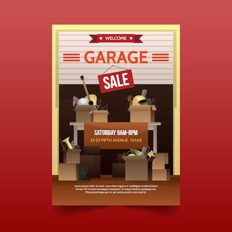Garage sale poster sjabloon