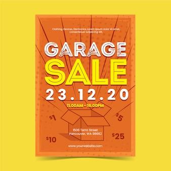 Garage verkoop poster sjabloon