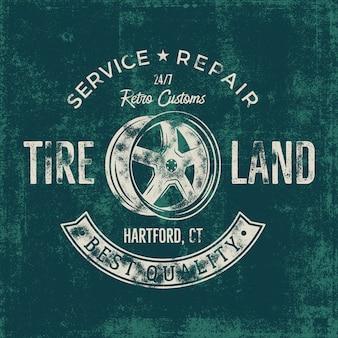 Garageservice vintage badge
