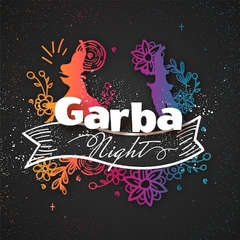 Garba nacht achtergrond.