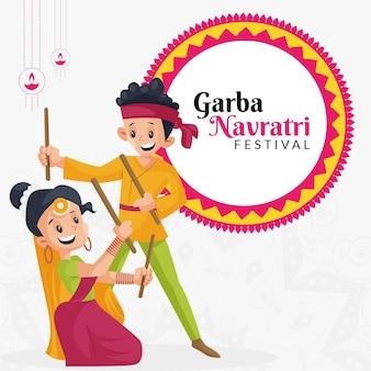 Garba navratri festival banner ontwerpsjabloon