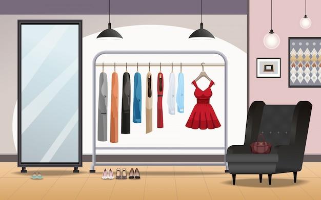 Garderobe interieur realistisch