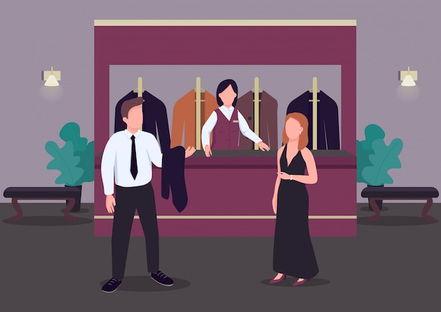 Garderobe kleur illustratie.