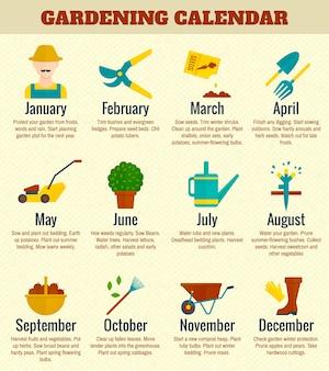 Gargen kalender illustratie