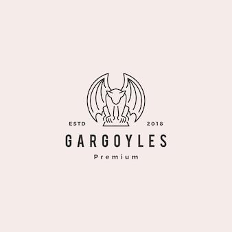Gargouilles gargoyle logo vector overzicht illustratie