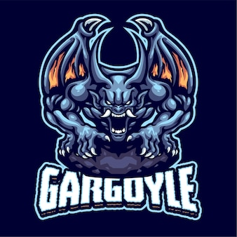 Gargoyle mascotte logo sjabloon