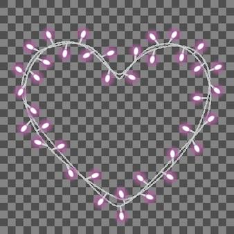 Garland in de vorm van het hart