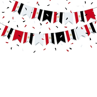Garland met de egyptische vlag