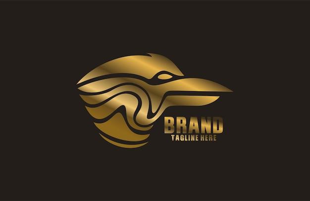 Garuda hoofd abstract logo
