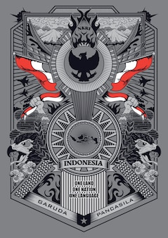 Garuda pancasila illustratie