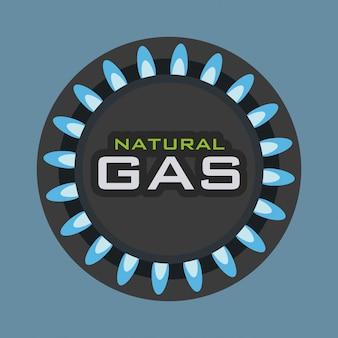 Gas natuurlijk ontwerp