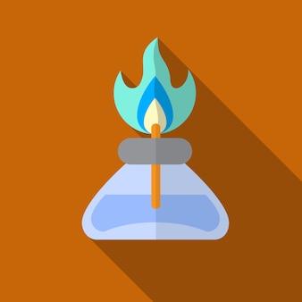 Gasbrander platte pictogram illustratie geïsoleerde vector teken symbool