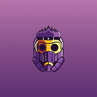 Gasmasker esport logo gamer