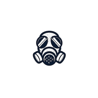 Gasmasker geïsoleerd