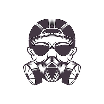 Gasmasker vectorillustratie