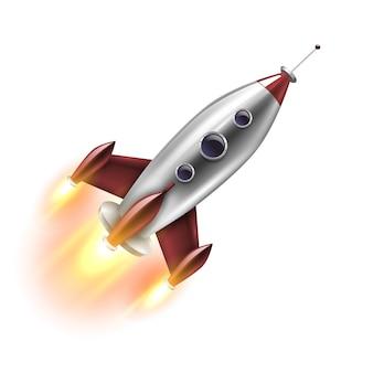 Geã¯soleerde realistische raket
