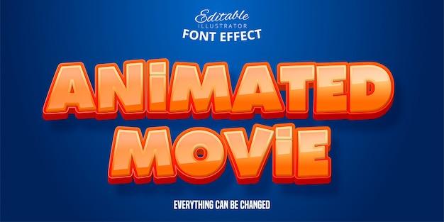 Geanimeerde filmtekst, bewerkbaar lettertype-effect