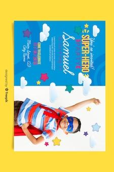 Geanimeerde verjaardagskaart uitnodigingssjabloon