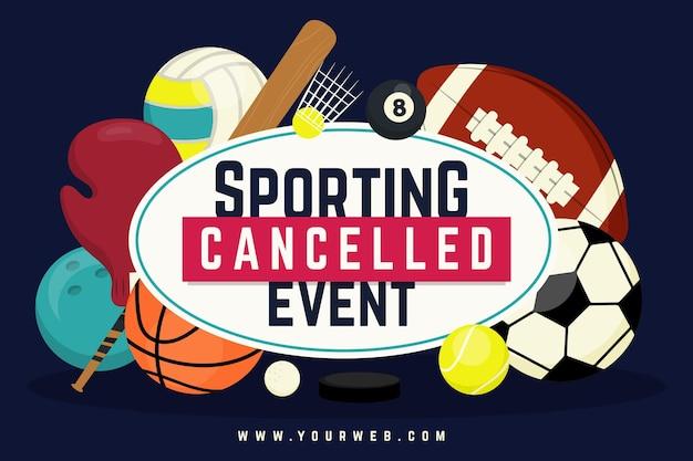 Geannuleerd sportevenementenbehang