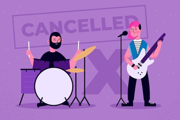 Geannuleerde muzikale evenementen