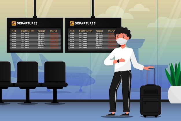 Geannuleerde vlucht met passagier