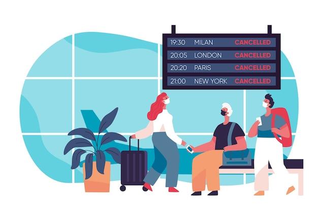 Geannuleerde vlucht op de luchthaven