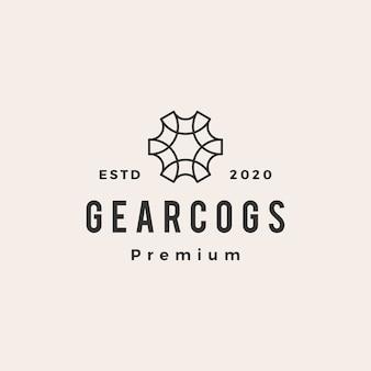 Gear cog cogs hipster vintage logo pictogram illustratie